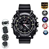 Mini Camera Hidden Micro HD 1080P Cameras 16GB Cameras Multifunctional Smart Waterproof Wrist IR Night Vision with Built-in Rechargeable for Indoor Outdoor (Color: Black-22)