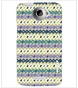 PrintDhaba Pattern D-5260 Back Case Cover for HTC ONE X (Multi-Coloured)