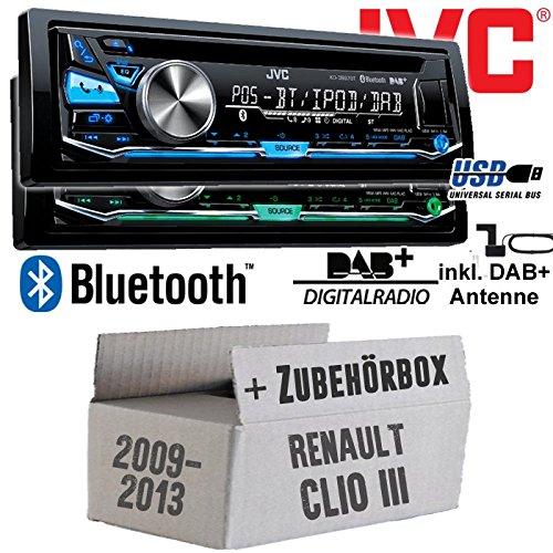 Renault Clio 3 FL - JVC KD-DB97BT - DAB+ Digitalradio | Bluetooth | USB | Autoradio inkl. DAB+ Antenne - Einbauset