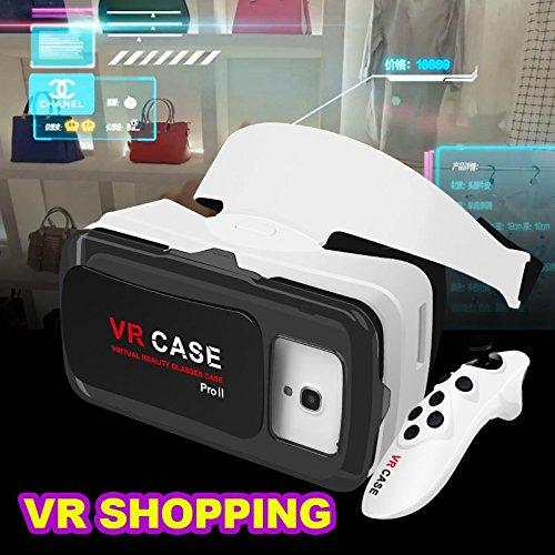 2016 Google Cardboard VR BOX Pro ⅡVersion.2 VR Virtual Reality 3D Glasses +Smart Bluetooth Wireless Mouse/Remote Control Gamepad