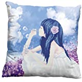 A Beautiful Girl 3D Stamped Cross Stitch Cushion
