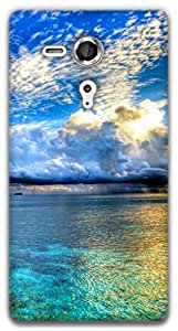 The Racoon Lean Water and Sky hard plastic printed back case / cover for Sony Xperia SP
