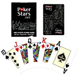 Copag Poker Stars Jumbo Index Playing Cards, Black
