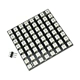Aideepen 64 LED Matrix WS2812 LED 8x8 5050 RGB Full-Color Driver Board for Arduino
