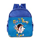 Kids THE REN & STIMPY SHOW School Backpack Fashion Children School Bags