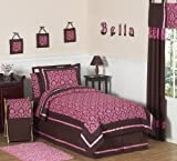 Pink and Brown Bella Children's and Teen Bedding 4 pc Twin Set by Sweet Jojo Designs