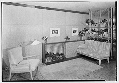 1940 Photo Collier's House at PEDAC, New York City. Living room fireplace, direct light Location: New (Party City Locations Nyc)