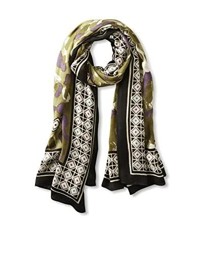 Theodora & Callum Women's Bobcat Scarf, Black Multi, One Size