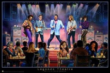 Hendrix Elvis Legends Bungarda Poster