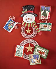 Snowman Wall Christmas Card Holder