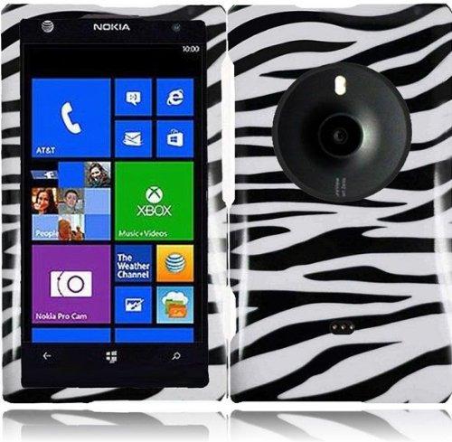 Lf Zebra Designer Hard Case Cover, Lf Stylus Pen & Lf Screen Wiper Bundle Accessory For At&T Nokia Lumia Elvis 1020