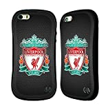 Official Liverpool FC LFC Black Pixel 1 LFC Crest 2 Hybrid Rubber Case Cover for Apple iPhone 5 / 5s