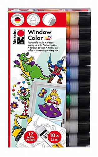 marabu-kit-window-color-fun-fancy-10-x-25-ml-a-base-deau