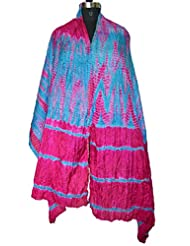 Original Taffeta Multi Tie & Die Hand Work Indian Veil ,women/'s Scarves , Dupatta