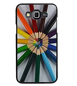 PrintDhaba Colour Pencils D-2239 Back Case Cover for SAMSUNG GALAXY GRAND 3 (Multi-Coloured)