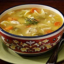 Campbells Frozen Condensed Roasted Chicken Noodle Soup - 4 lb tray 3 per case