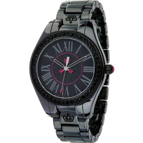 JUICY COUTURE LADIES BLACK FASHION CERAMIC WATCH 1900745