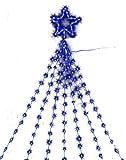 LEDナイアガラライト3m(スター付ブルー)