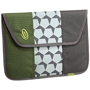 Timbuk2 E-Reader Envelope Sleeve for iPad 2, Algae Green - Gunmetal - Cement Hex