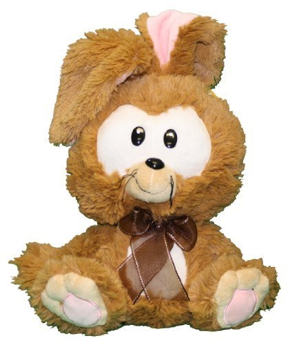 "Fiesta Big Head Easter Bunny - Brown 11"" - 1"
