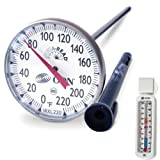 CDN IRXL220 ProAccurate Insta-Read NSF Large Dial Professional Cooking Thermometer with Customized Economy Refrigerator/Freezer Thermometer Bundled Set