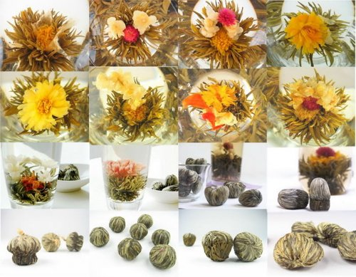 Moyishi Different Kinds Flower Teas Blooming Balls,10Pcs