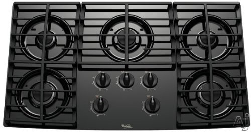 Whirlpool : GLT3657RB 30 Sealed Burner Gas Cooktop, 5 Burners - Black