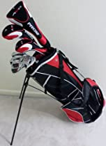 Mens Complete Golf Club Set Driver, Fairway Wood, Hybrid, Irons, Putter & Deluxe Stand Bag Superior Quality Golf Equipment