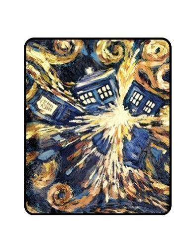 "Learn More About Doctor Who Exploding TARDIS Throw Blanket 50""x60"""