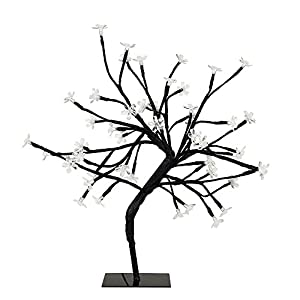 MiniSun - Decorative Cherry Blossom Bonsai Style Tree Table Lamp Light with 48 Cool White LED's - 45cm by MiniSun