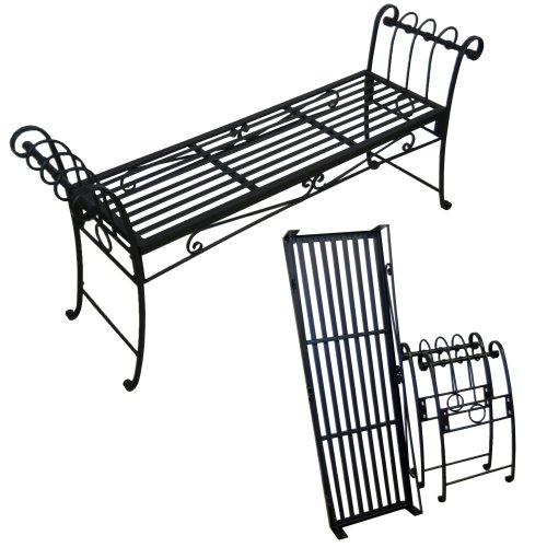 Scroll Garden Bench – Black