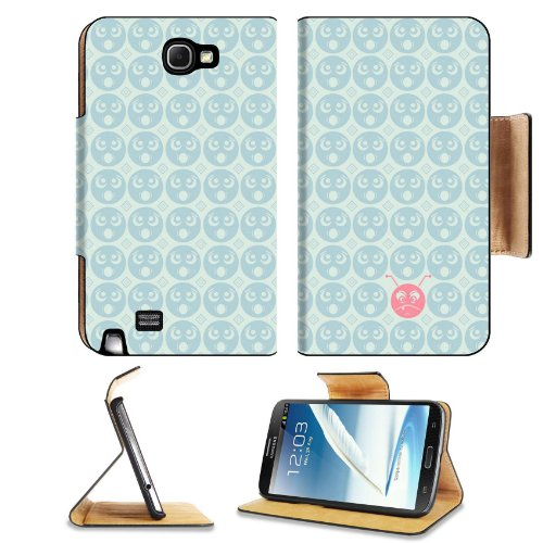 Pattern Round Faces Samsung Galaxy Note 2 N7100 Flip Case Stand Magnetic Cover Open Ports Customized Made To Order Support Ready Premium Deluxe Pu Leather 6 1/16 Inch (154Mm) X 3 5/16 Inch (84Mm) X 9/16 Inch (14Mm) Liil Note Cover Professional Note2 Cases front-916483