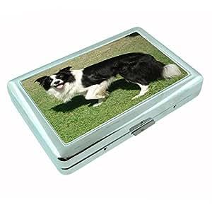 Amazon.com : Dog border collie 01 Silver Cigarette Case : Everything