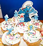 Smurf Cake Toppers Cup Cake Decoration Figures