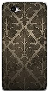 The Racoon Grip brown patterns hard plastic printed back case / cover for Sony Xperia M2