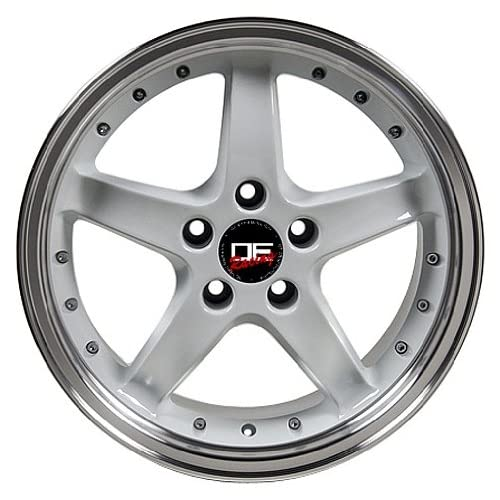 (4) SALEEN STYLE WHITE FORD MUSTANG S281 17 INCH WHEELS RIMS
