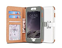iPhone 6s (4.7) Case, [Snow Fairy] iPhone 6 (4.7) Flip Case [Wristlet Series][Wallet] Cash Pocket - Wrist Strap PU Leather Case for iPhone 6 (4.7) - Special Design ID Slot (IP6-PUL-C-001) iPhone 6s (4.7) ECO Package White