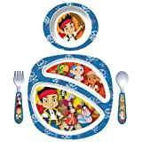 The First Years Disney Junior 4-Piece Feeding Set, Junior Jake and the Never Land Pirates-1 ea