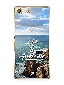 YuBingo Life is Awesome Designer Mobile Case Back Cover for Sony Xperia M5