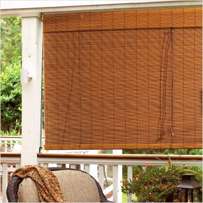 "Radiance Imperial Matchstick Rollup Blind- Fruitwood(36x72"")"