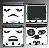 Star Wars Stormtrooper Helmet Minimal Cartoon Movie Video Game Vinyl Decal Cover Skin Protector for Nintendo GBA SP Gameboy Advance Game Boy