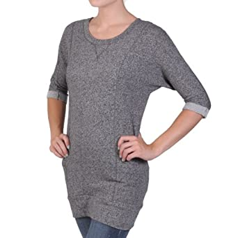 Hailey Jeans Co Juniors Half-sleeve Round Neck Banded Tunic