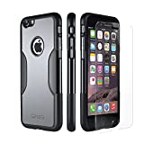 iPhone 6 Case, Gray - *Bonus Glass* Rugged Protection, Thin and Lightweight, Includes Tempered Glass Screen Protector, Professional Camera Hood, Stunning Colors Including Sahara Mist Sahara Case