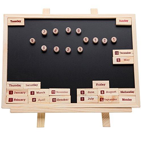 Wooden Easel Blackboard / Wall Mountable Magnetic Chalk Message Memo Board Gift Set - MyGift�