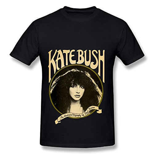 UTU English Singer Kate Bush Mens Fashion T Shirt Black XL (Kate Bush Shirt compare prices)