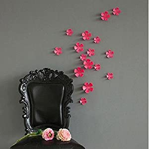 Great Value Wall Decor 3D DIY Flower Wall Stickers Home Art Decor Pop Up Mixed Colors MediumRose Red by Mzamzi