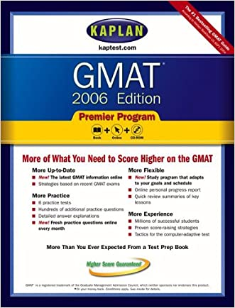 Kaplan GMAT 2006, Premier Program (Kaplan GMAT Premier Program (w/CD))