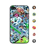 id America iPhone4S,iPhone4用 3D保護シール Cushi Suburb csi401
