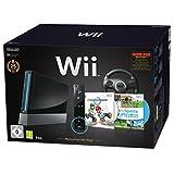 "Nintendo Wii ""Mario Kart Pak"" - Console avec Wii Sports, Mario Kart Wii, Volant Wii + contr�leur Remote Plus, noir.par Nintendo"