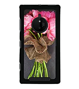 Bouquet of Pink Flowers 2D Hard Polycarbonate Designer Back Case Cover for Nokia Lumia 830 :: Nokia Lumia 830 RM-984